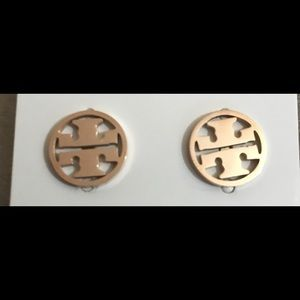 Tory Burch Gold Logo Earrings